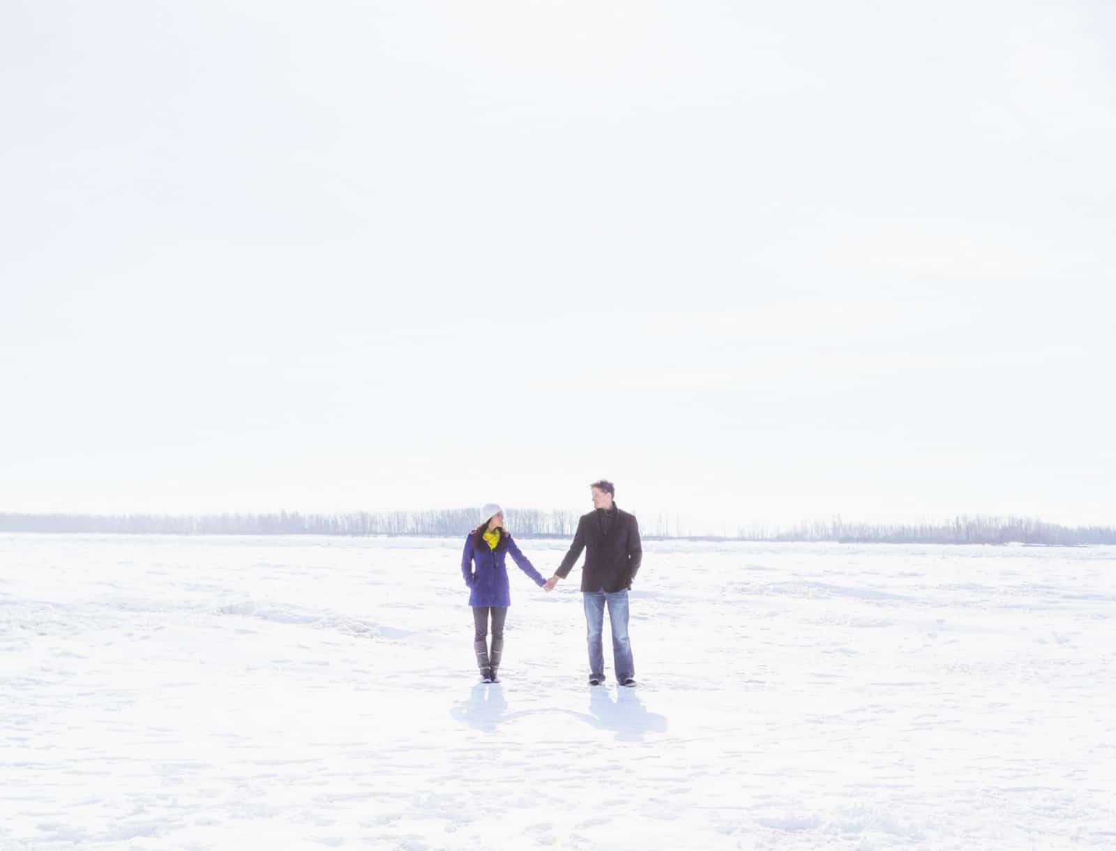 Toronto Winter Engagement Photos at Riverdale Farms & Cherry Beach: Ashley & Colin