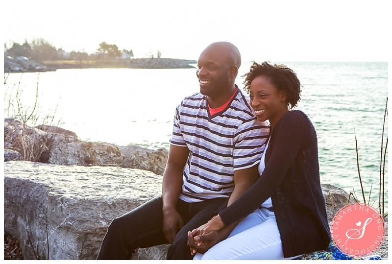 Toronto Scarborough Bluffs Sunrise Engagement Photos - Melissa & Ian - Samantha Ong Photography