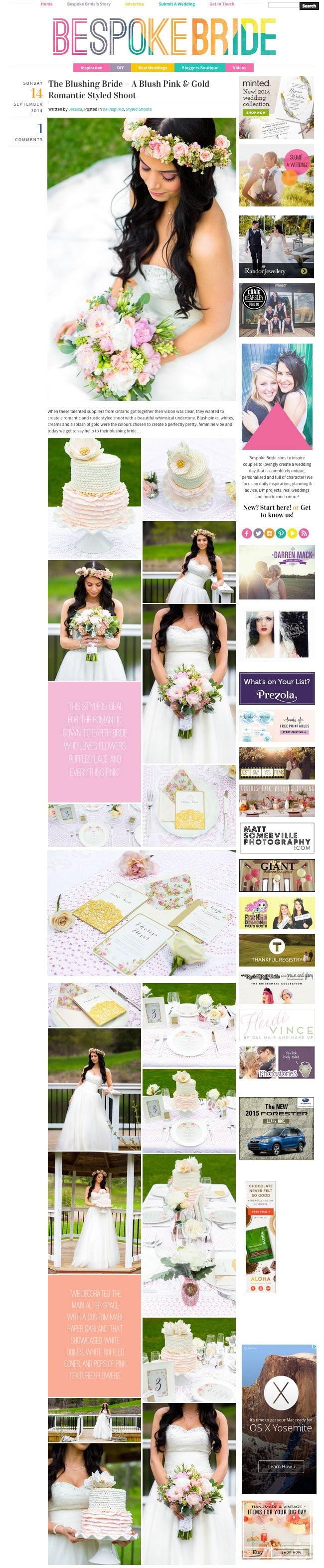 Bespoke Bride Wedding Photos