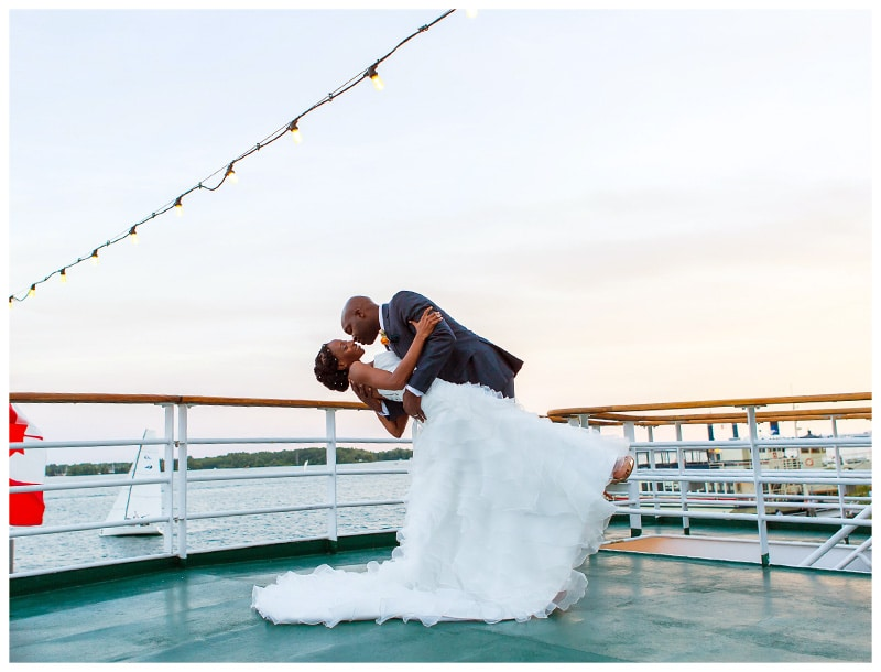 Toronto Harbourfront Cruise Wedding on Lake Ontario: Melissa & Ian