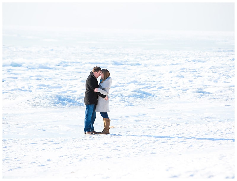 Downtown Toronto Snowy Winter Engagement Photos at Cherry Beach: Aislynn & Ryan