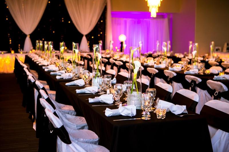 Muskoka Ymca Wedding Photos Gravenhurst Elegant Black Purple