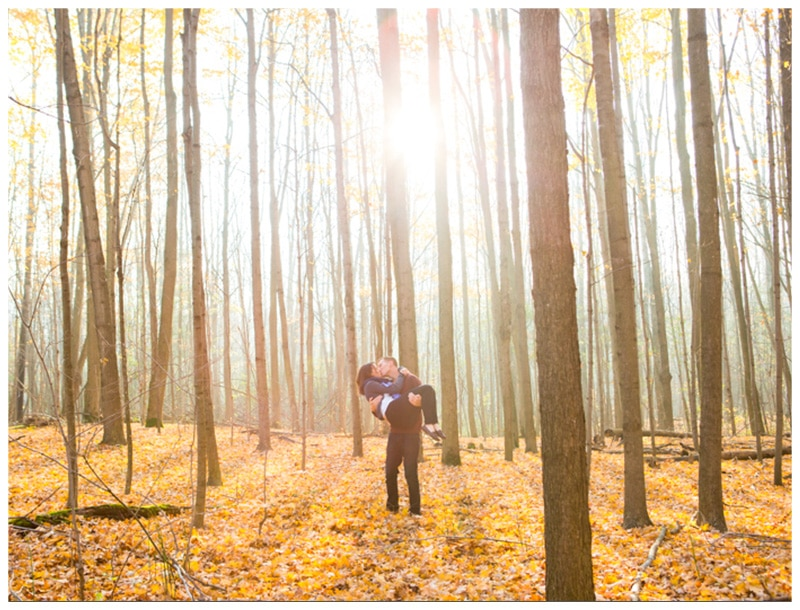 Durham Forest Engagement Photos: Megan & Matt