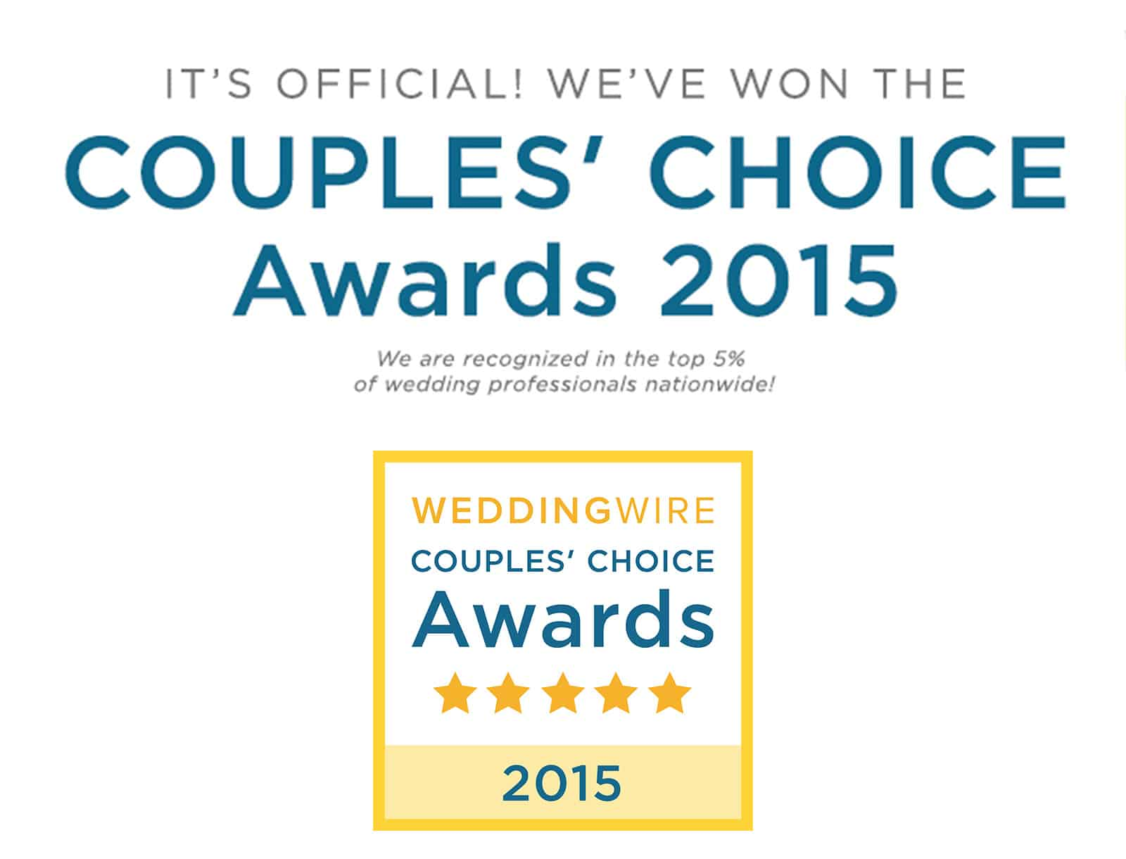Samantha Ong Photography awarded Wedding Wire Couple's Choice 2015