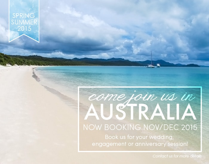 Now booking Australia Spring/Summer Weddings 2015