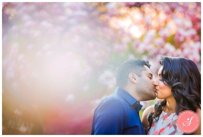Toronto Cherry Blossom + Lake Ontario Engagement Photos: Prasanthy & Hussein