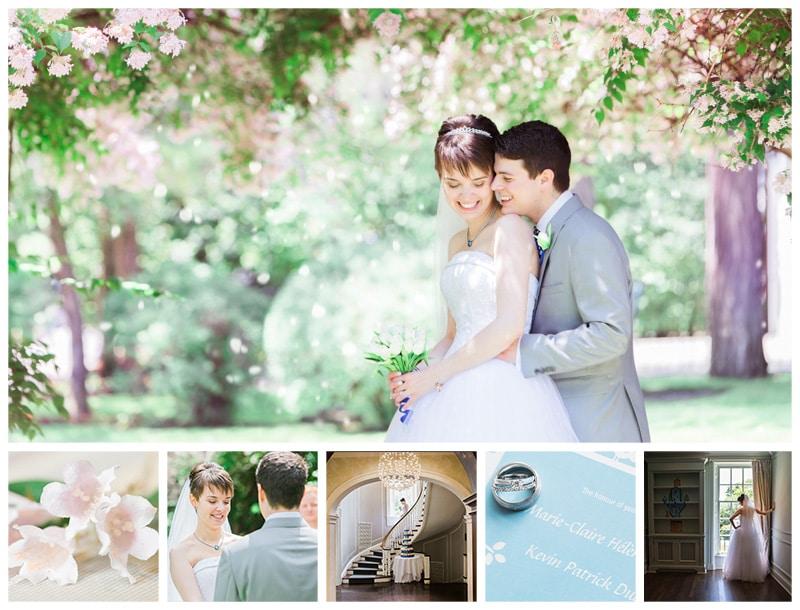 Estates of Sunnybrook McLean House Spring Wedding Photos: Marie-Claire & Patrick