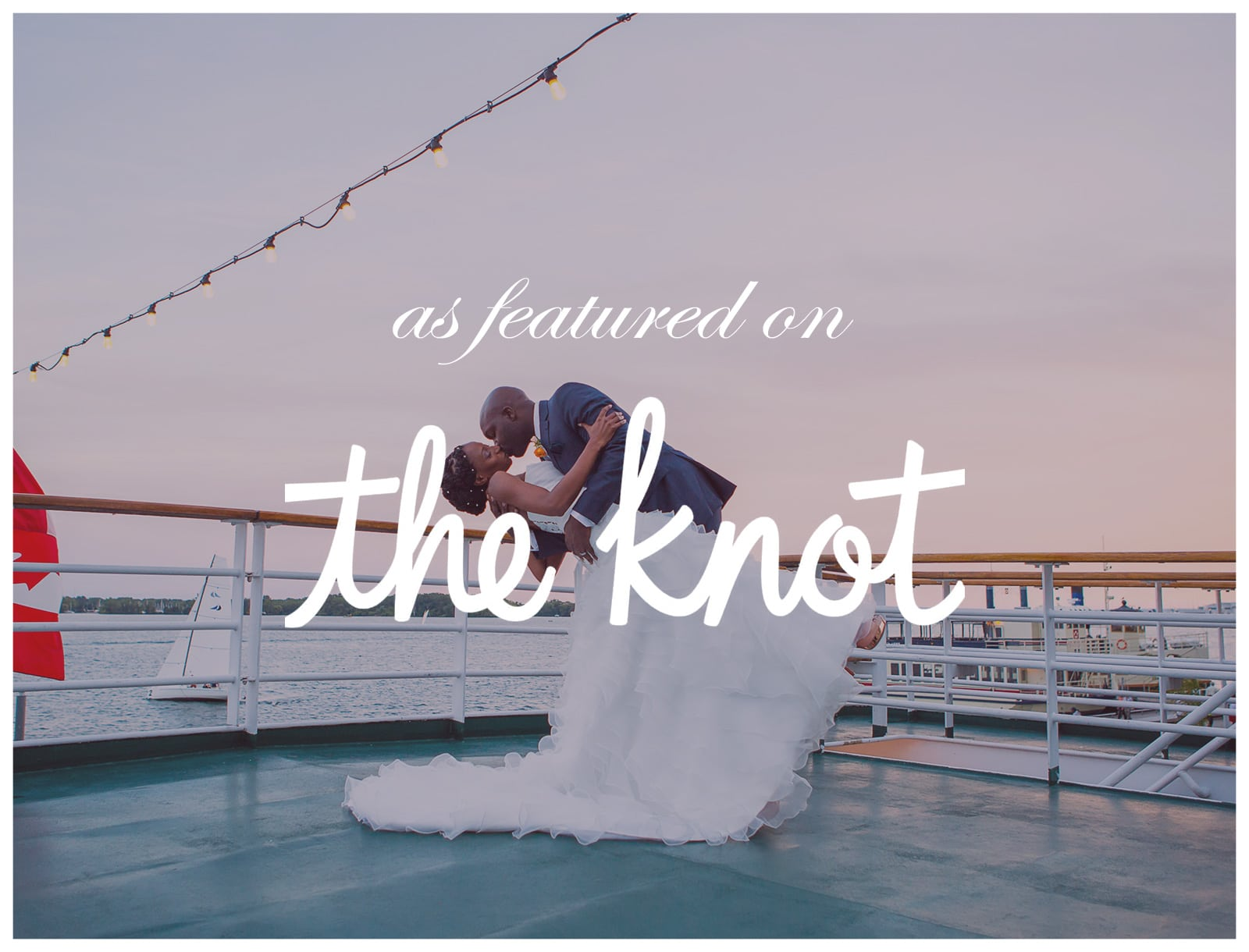 Featured on The Knot: Toronto Wedding with Mariposa Cruises