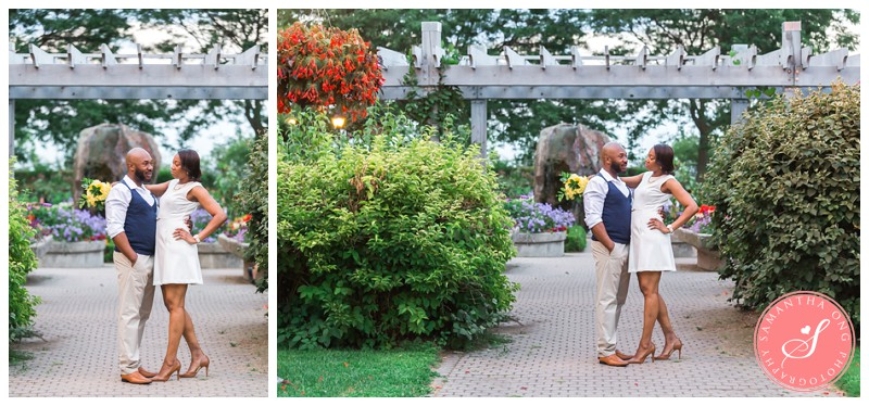 Scarborough Engagement Photos at Rosetta McClain Gardens: Camasha + Marvin