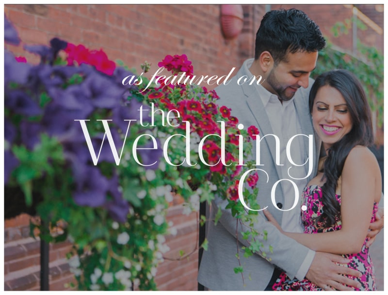 Featured in The Wedding Co: Distillery District Engagement