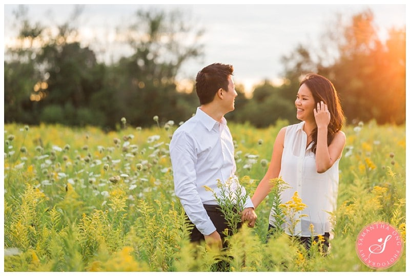 Pickering-Summer-Engagement-Photos-Fields-Flowers-Sunset-07