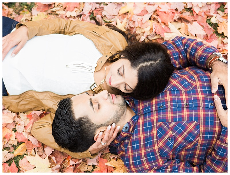 Toronto Edwards Gardens Fall Engagement Photos: Sabrina + Abid