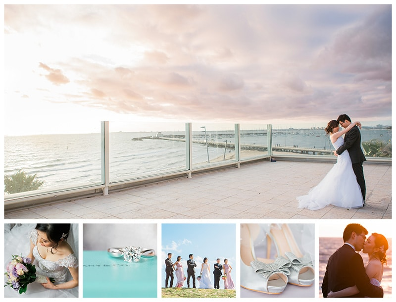 Melbourne Encore St Kilda Beach Wedding Photos: Jeena + Run