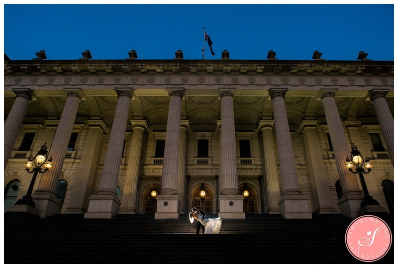 Melbourne Fitzroy Gardens & Parliament House Wedding Photos: Stacey + David