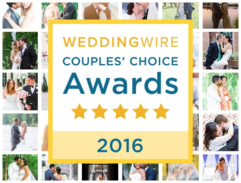 We Did It Again! Wedding Wire Couples Choice for 2016