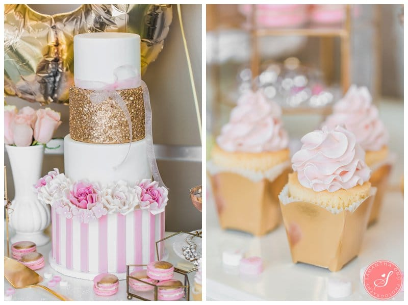 Valentine S Day Pink Dessert Table Photos Gold Romantic