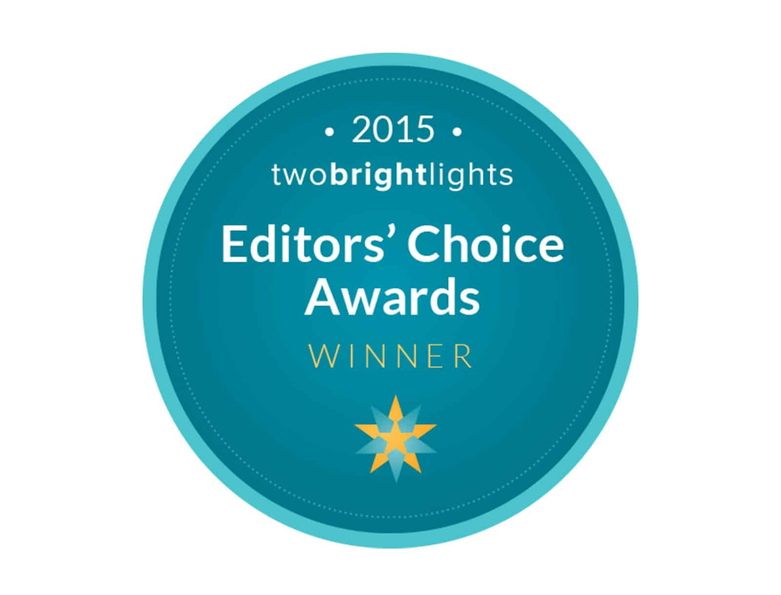 We Won Editor's Choice Award 2015 From Two Bright Lights!