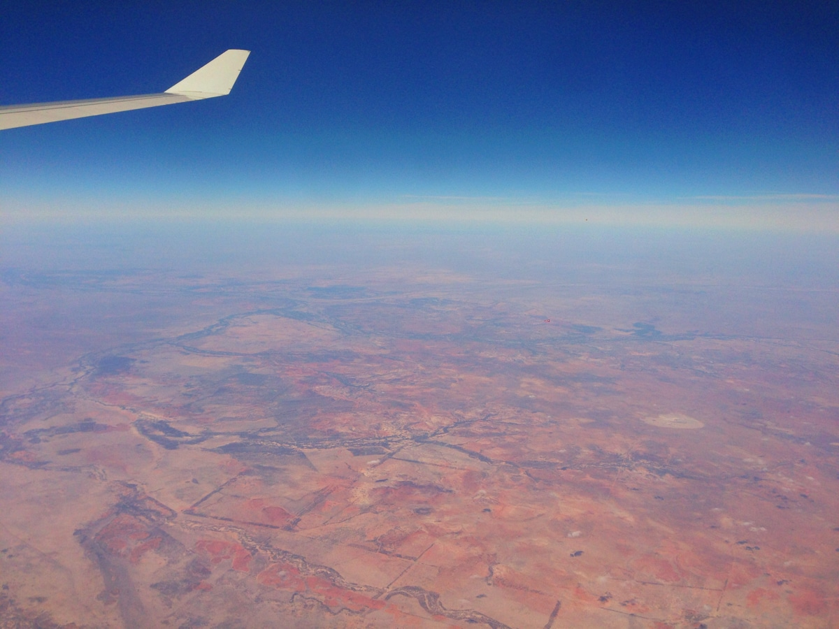 Flying Over Australia Red Land