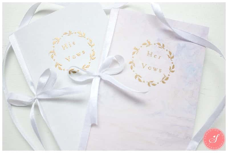 Wedding-Vow-Book-DIY-Gold-Embossed-Watercolour-Floral-2