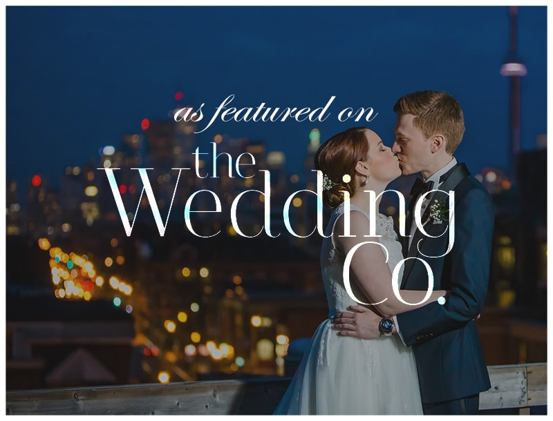 Featured on The Wedding Co: Winter Wedding at The Gladstone Hotel