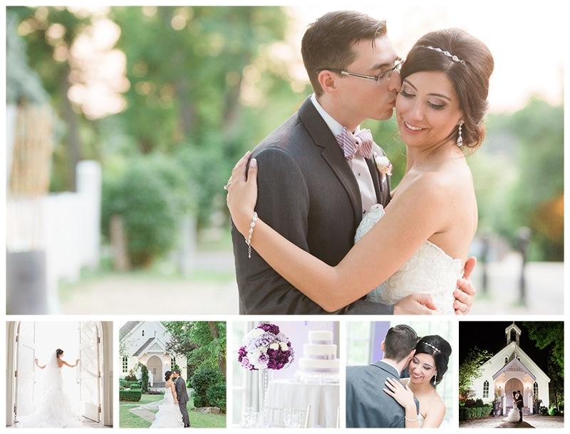 Doctor's House Purple Glam Wedding: Stephanie + Elliott