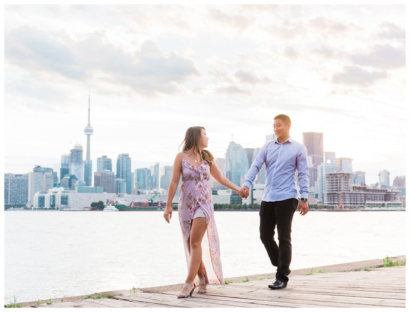 A Summer Downtown Toronto Engagement: Maggie + Yutong