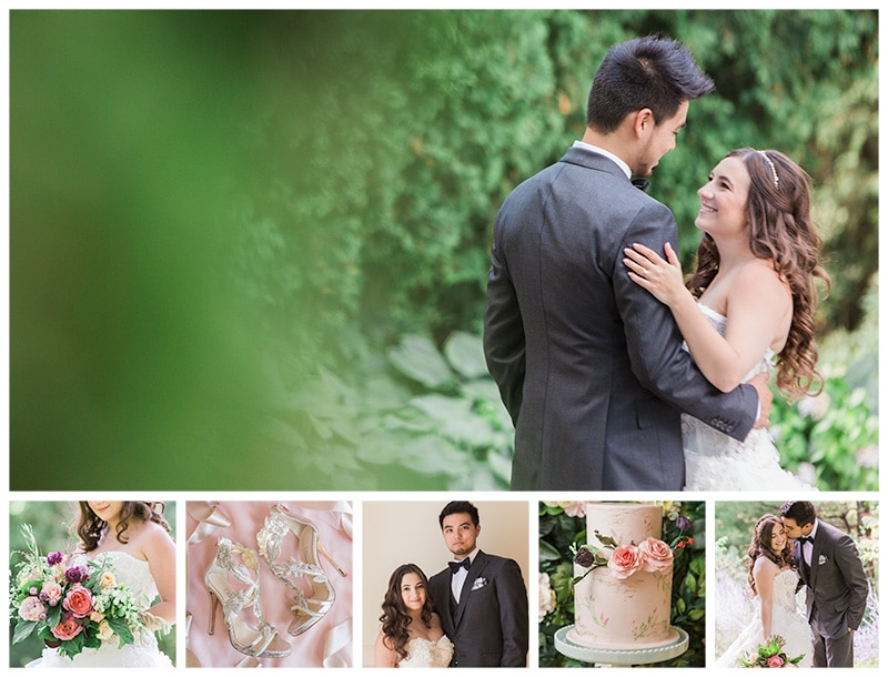 A Romantic Midsummer Nights Dream Summer Wedding: Laura + Michael