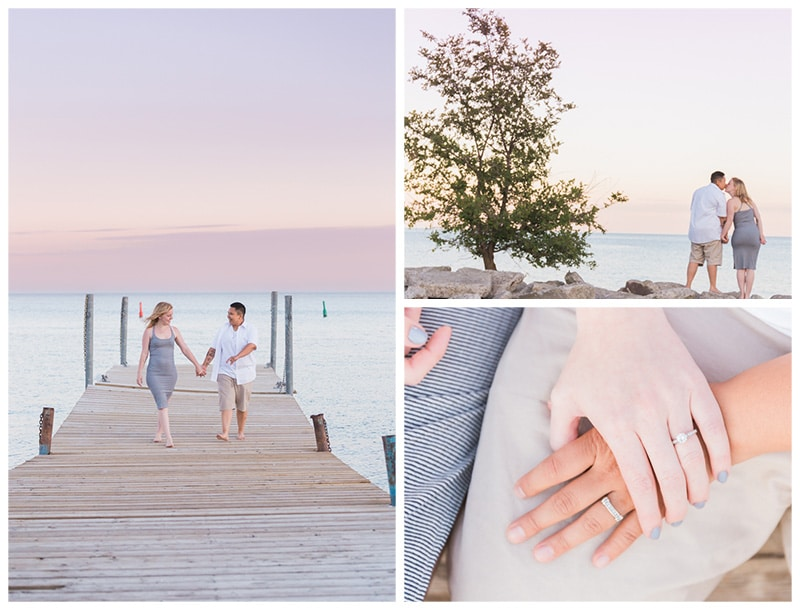 A Sweet Beach Sunset Engagement in Toronto: Victoria + Ashley