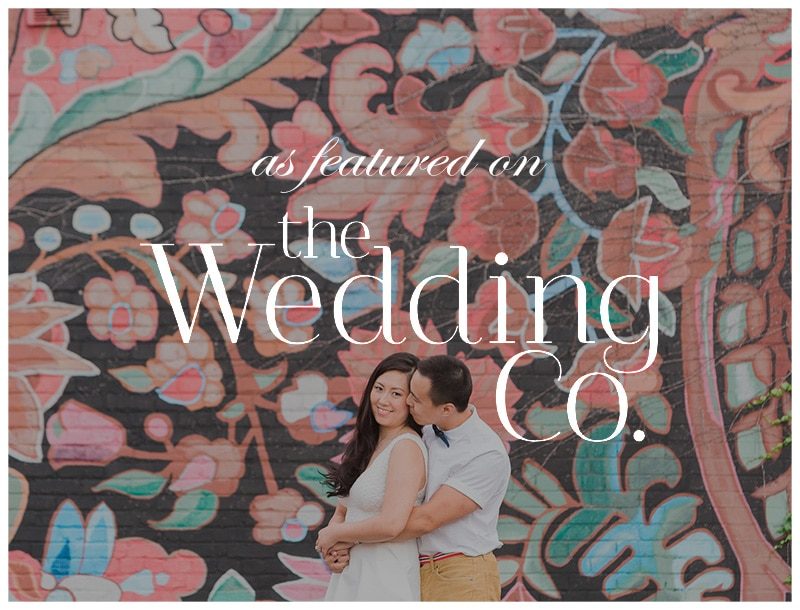 Featured on The Wedding Co: Colourful Toronto Engagement