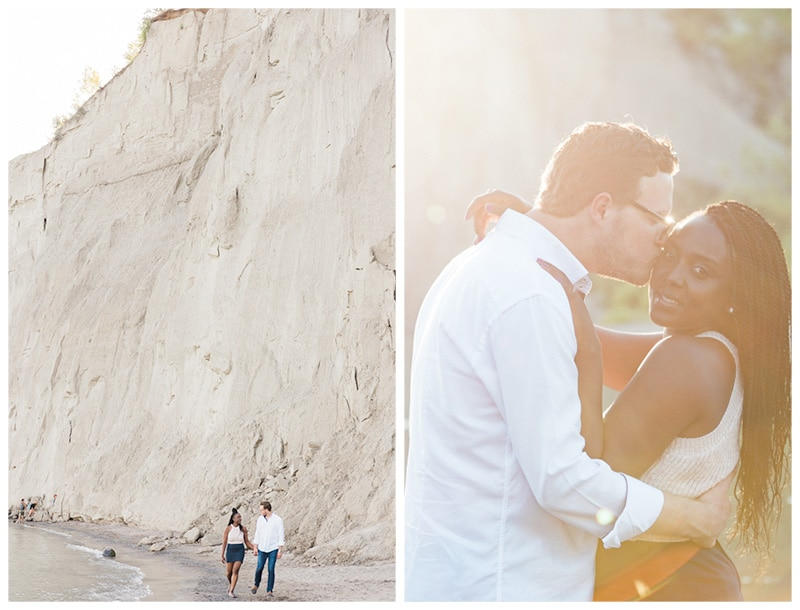 A Lakeside Engagement at the Scarborough Bluffs: Stacy + Stephen