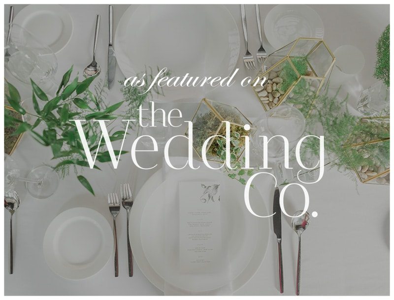 Featured on The Wedding Co: Modern & Minimalist City-Girl Chic
