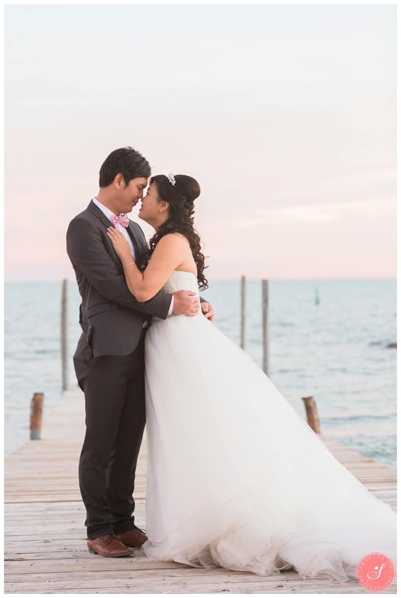 Toronto Beach Wedding Photos Romantic Sunset