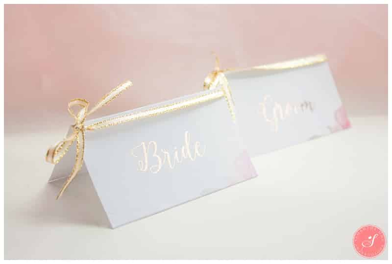 easy diy gold foil floral wedding placecards samantha ong