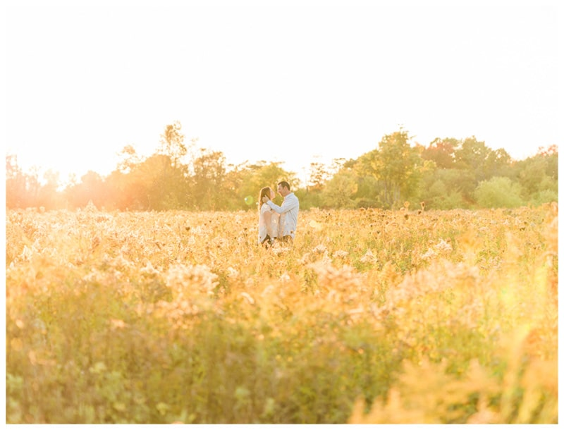 A Dreamy Wildflower Engagement Session: Laura + Jim