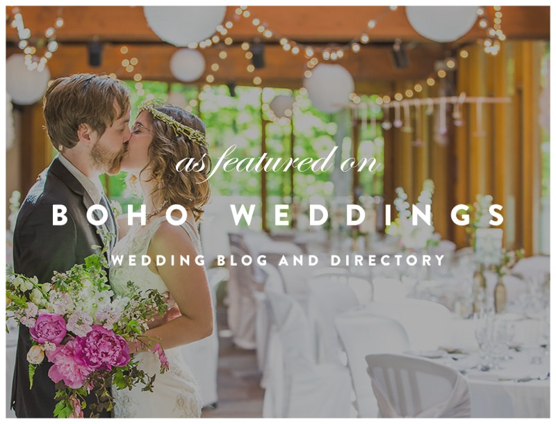 Featured on Boho Weddings: Kortright Eco Friendly Wedding