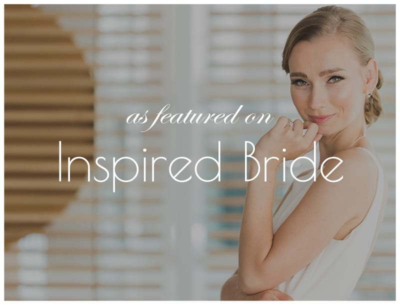 Featured on Inspired Bride: Minimalism and Industrialism Combined