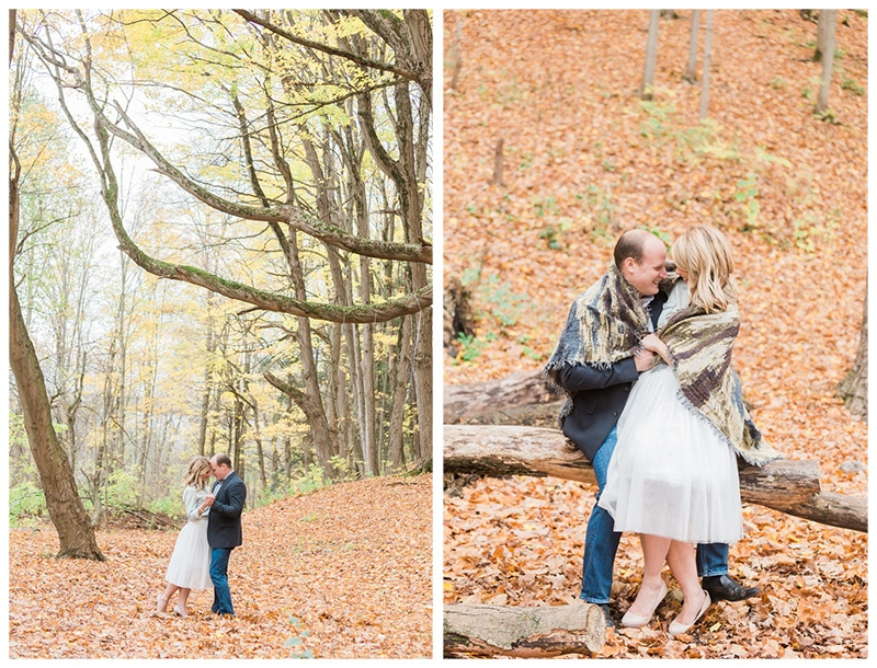 An Adorable Cozy Fall Engagement Session: Alexandra + Jamie