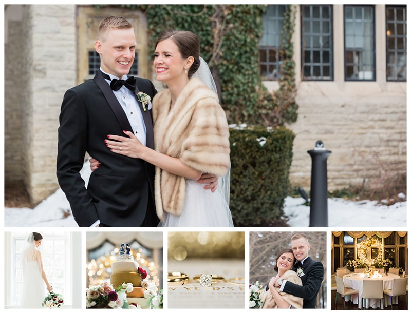 A New Year's Wedding Celebration at Estates of Sunnybrook: Claire + Nico