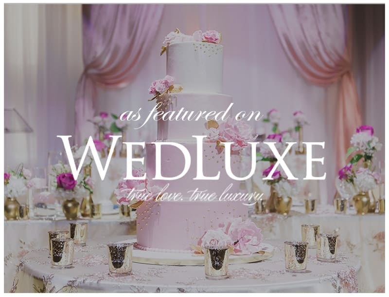 Featured on WedLuxe: A Romantic Wedding Celebration