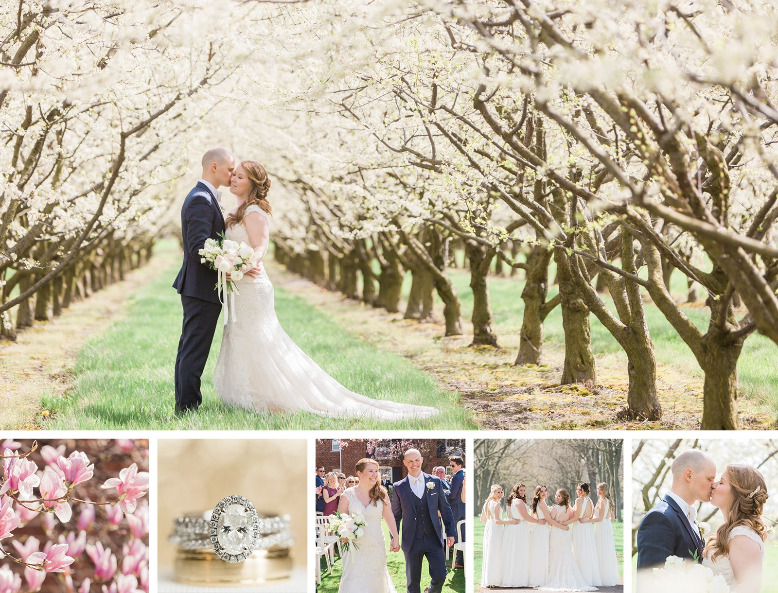 A Magical Spring Blossom Wedding at Pillar & Post: Lauren + Chris
