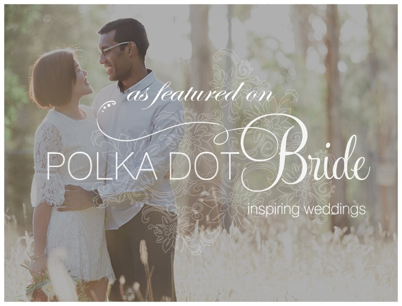 Polka Dot Bride Natural Bright Engagement Photos