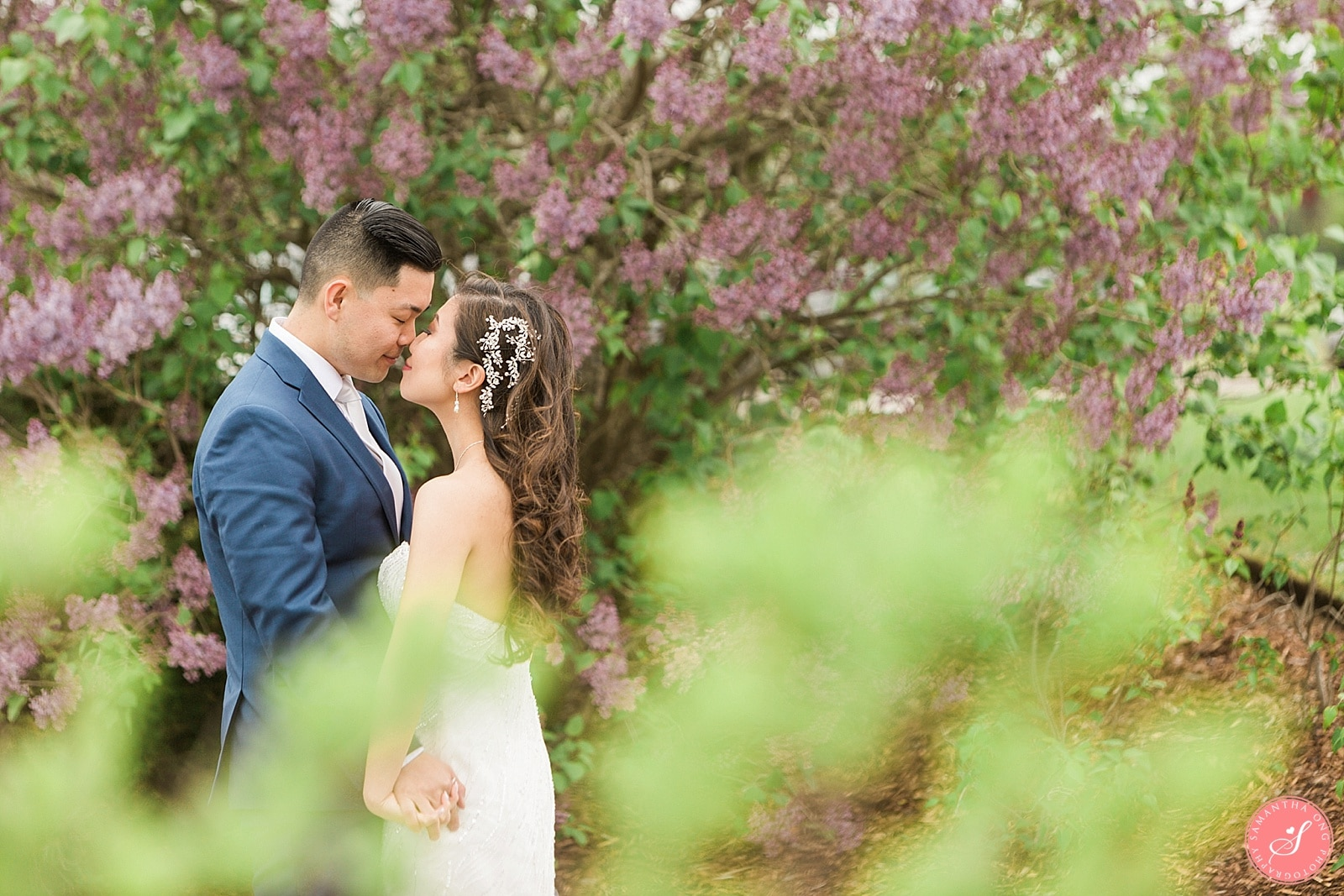 Deer Creek Wedding Photos Ajax Golf Club Spring Pink Romantic