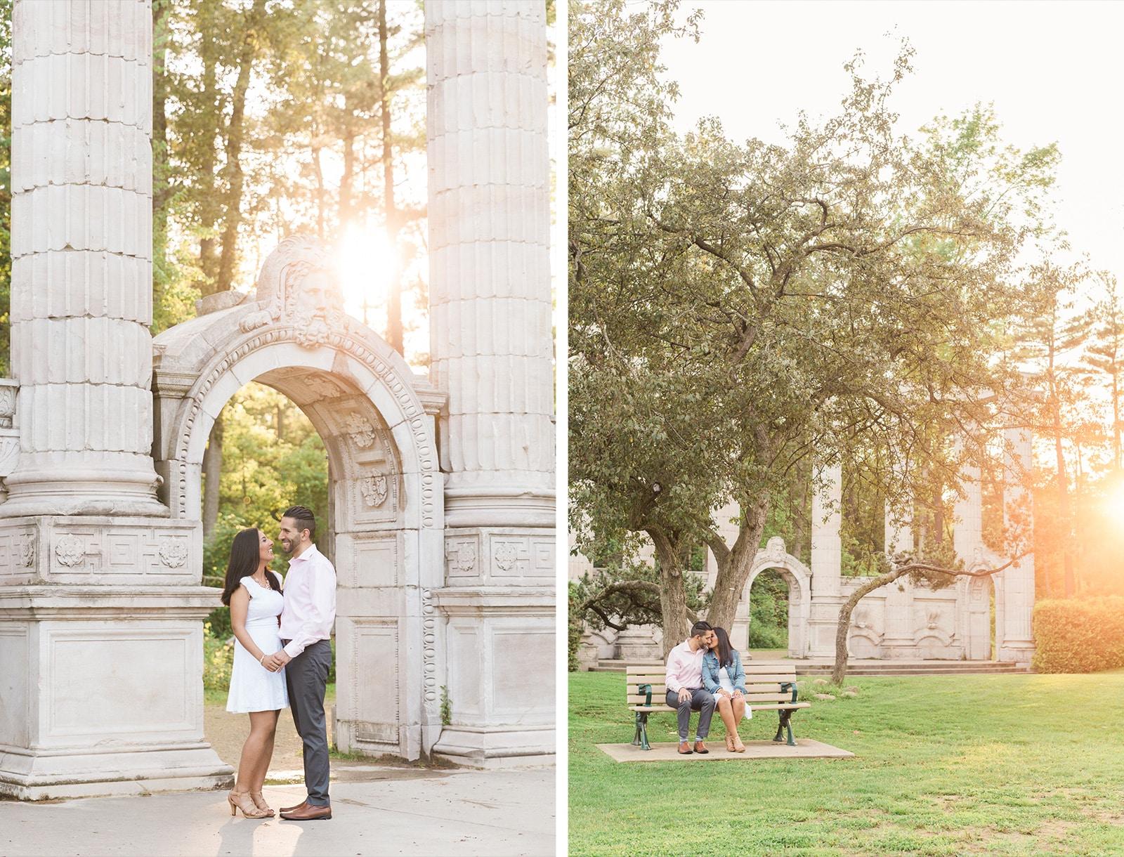A Natural Summer Park Engagement Session: Jamila + Alif