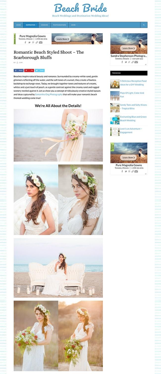 Toronto Beach Wedding
