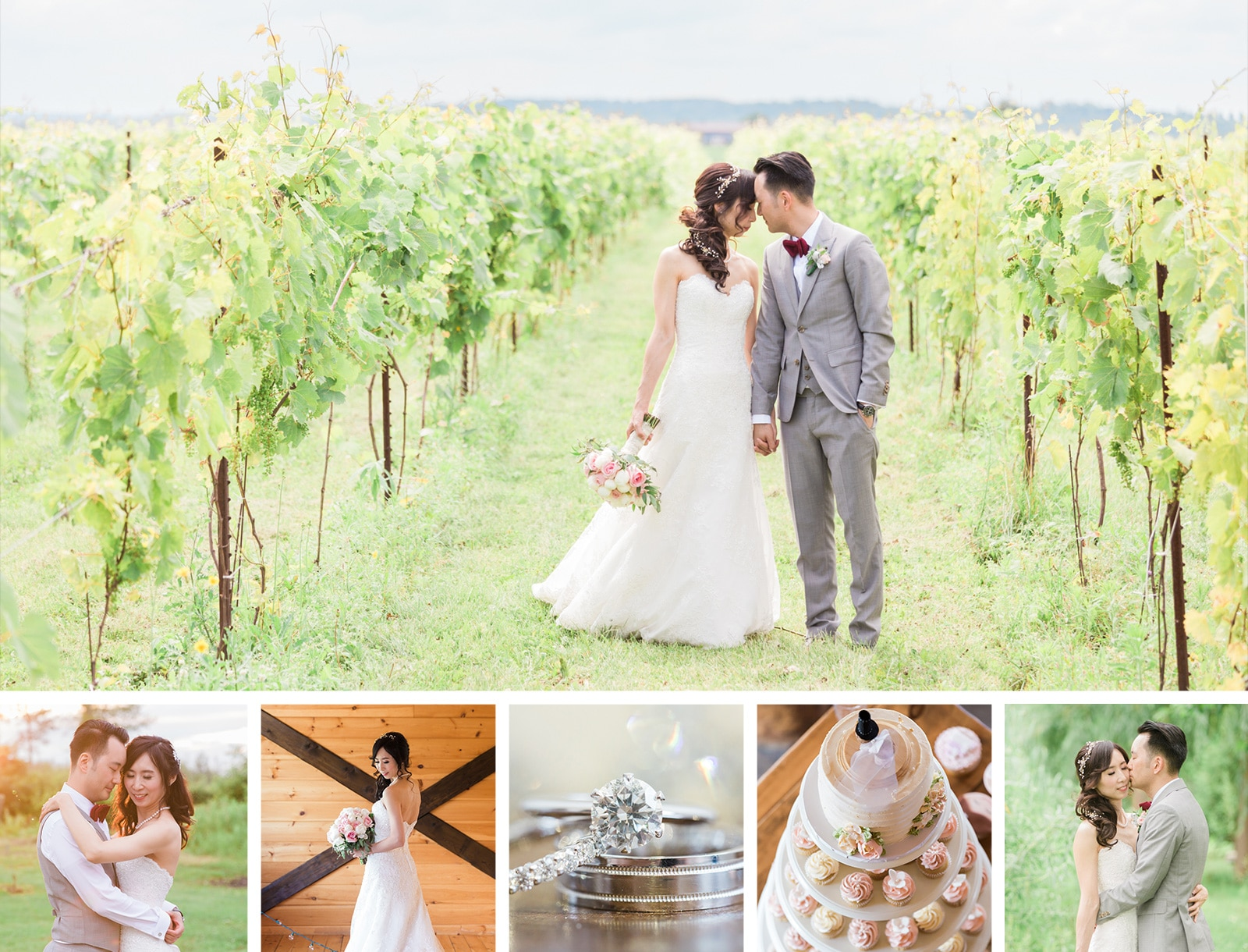 A Rustic Summer Vineyard Wedding at Holland Marsh Wineries: Louisa + Jeff