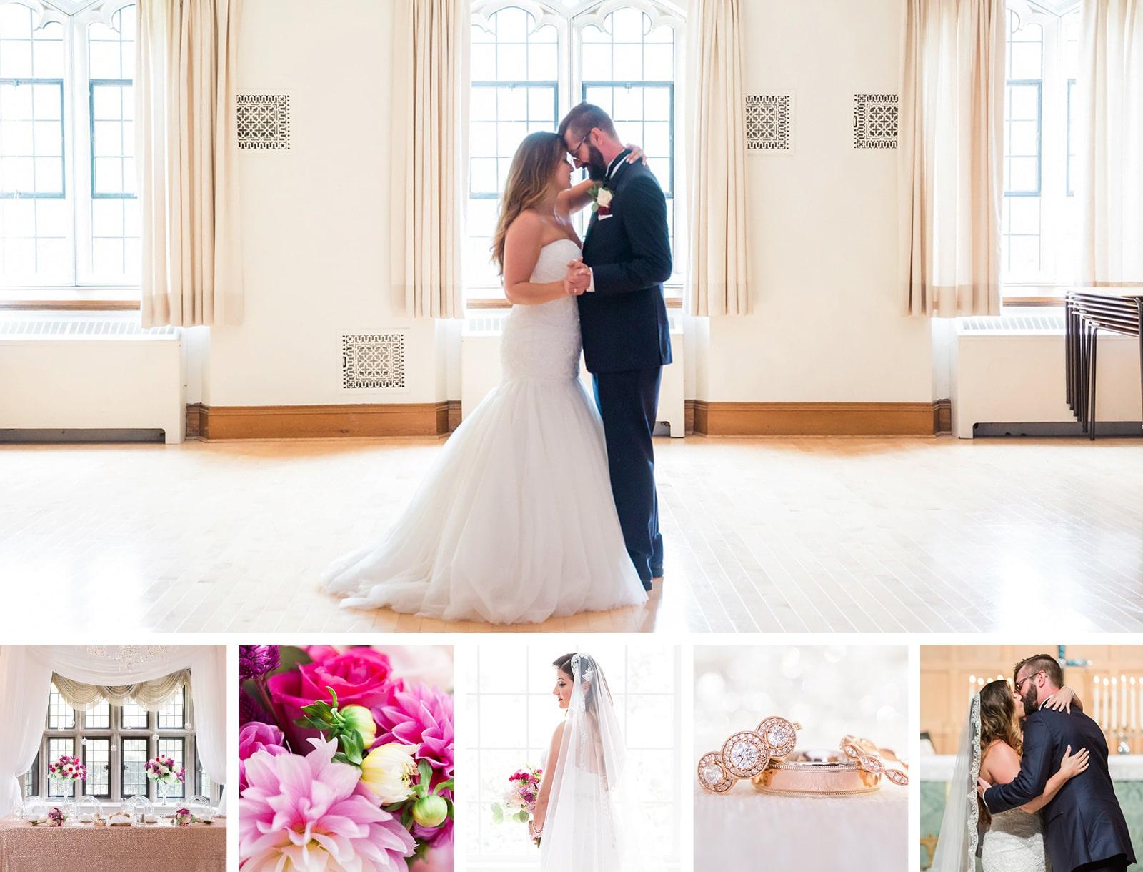 Beautiful Pink & Navy Estates of Sunnybrook Wedding: Katherine + Kevin