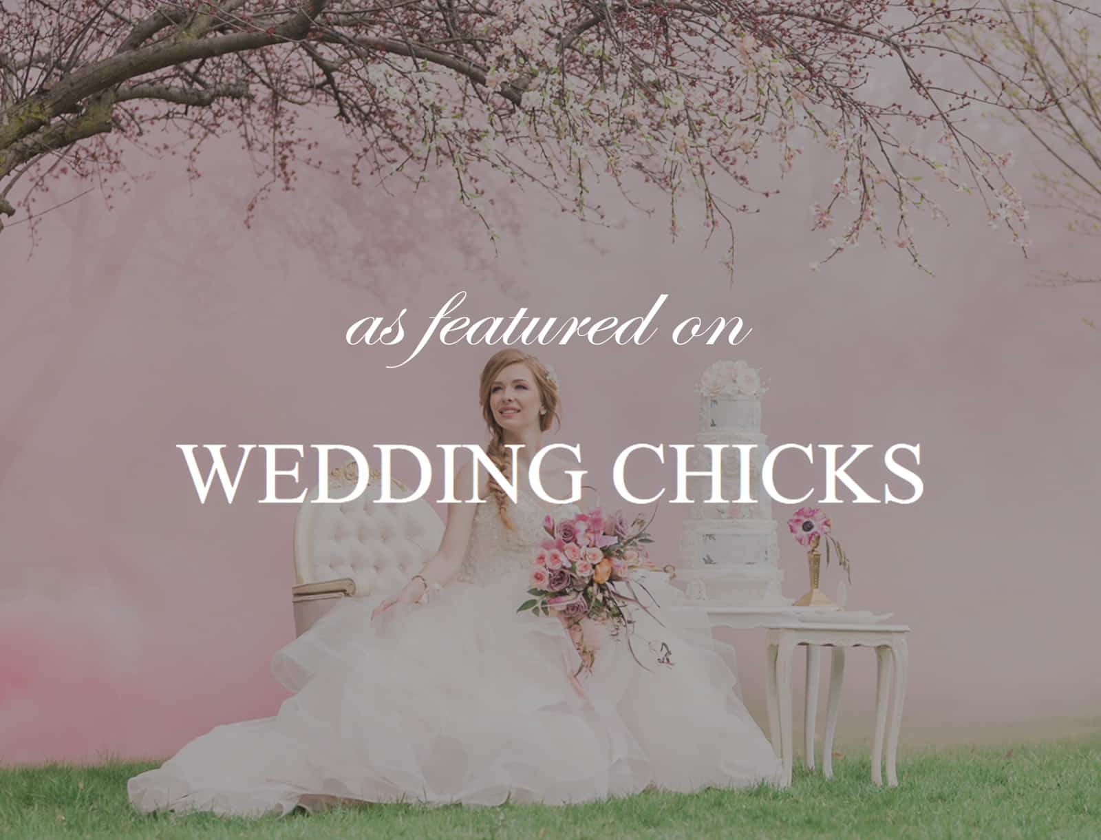Featured on Wedding Chicks: Princess Worthy Wedding Ideas with Cherry Blossoms
