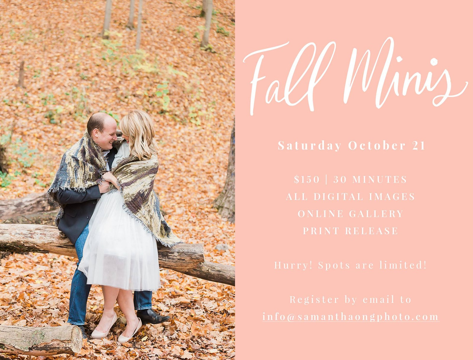 Just Announced: Fall Mini Sessions 2017!