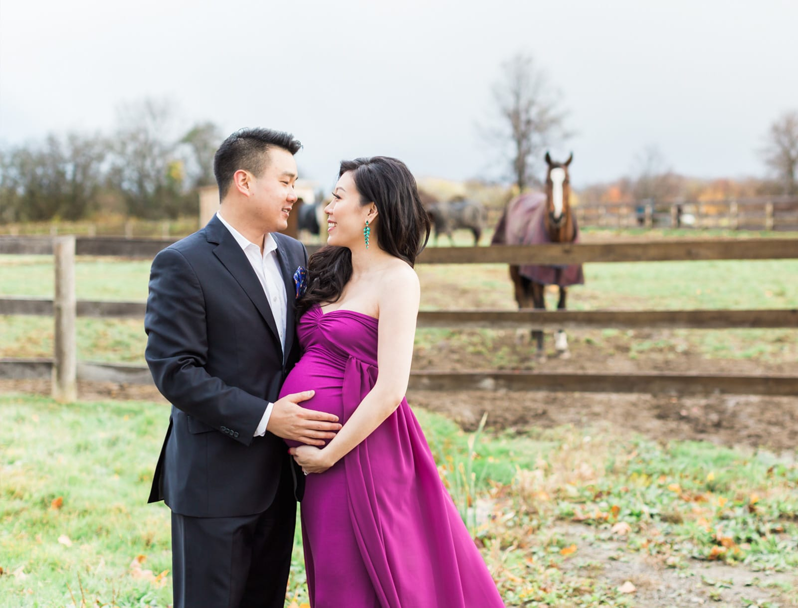 Romantic Fall Maternity Session: Chermain + Alex