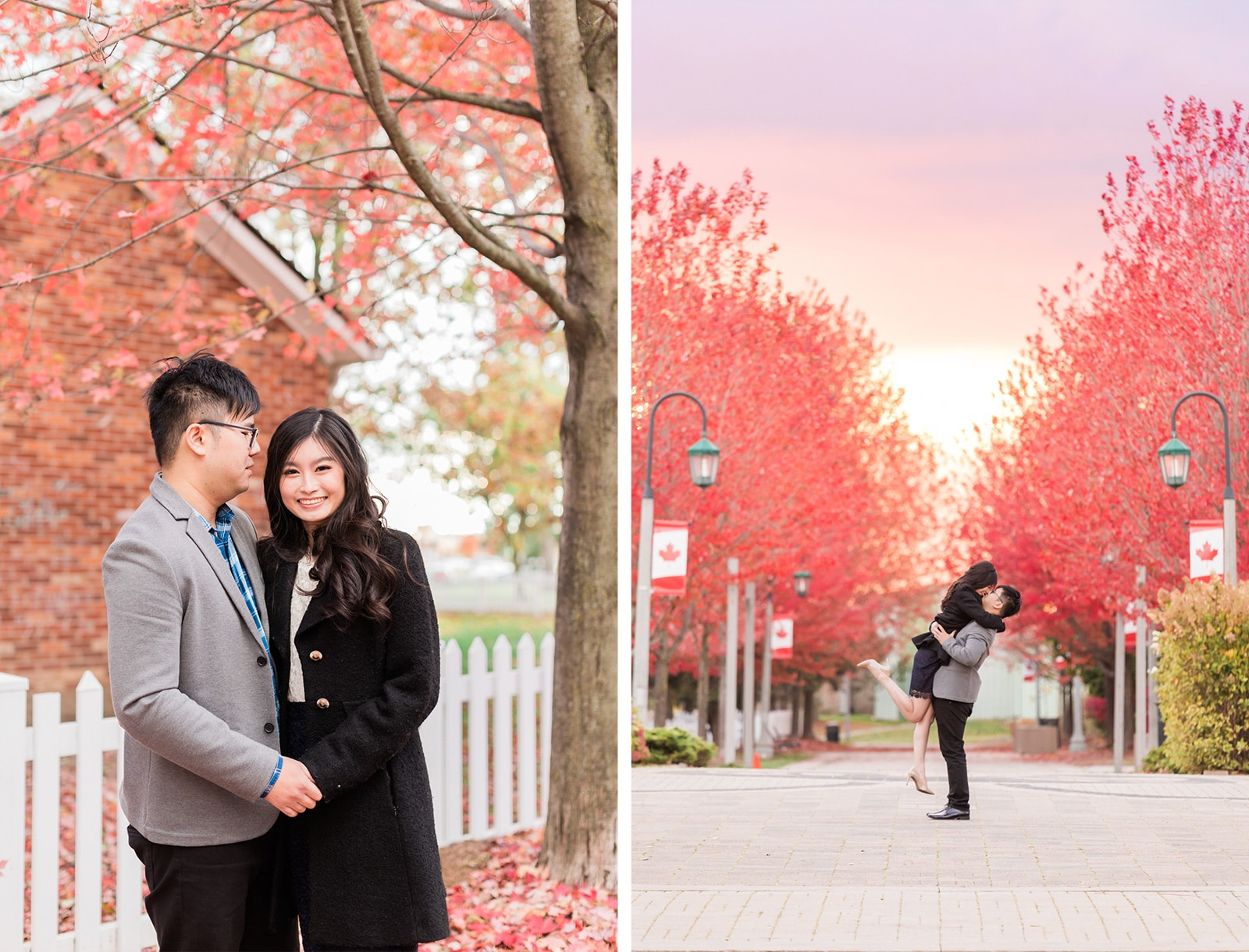 Magical Fall Engagement at Richmond Green: Stephanie + Dickson